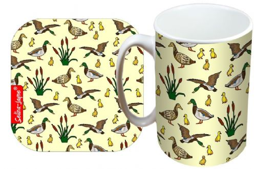 Selina-Jayne Ducks Limited Edition Designer Mug and Coaster Gift Set